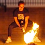 We used a flamethrower to cook Thanksgiving turkey