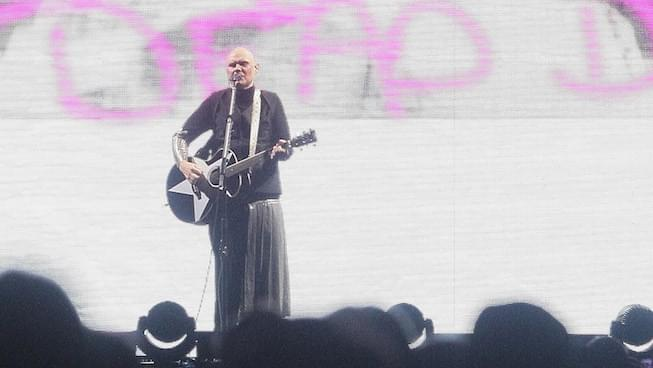 Billy Corgan of Smashing Pumpkins performs onstage