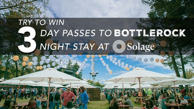 You Could Win 3-Day Passes To BottleRock Napa Valley And A 3-Night Stay At Solage!