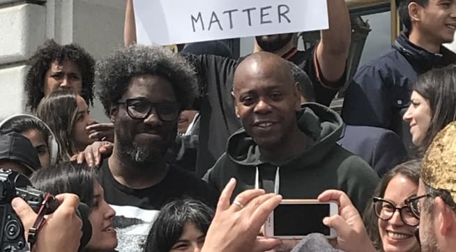 Dave Chappelle, Kamau Bell, and More Gather At City Hall To Save The Punch Line From Moving