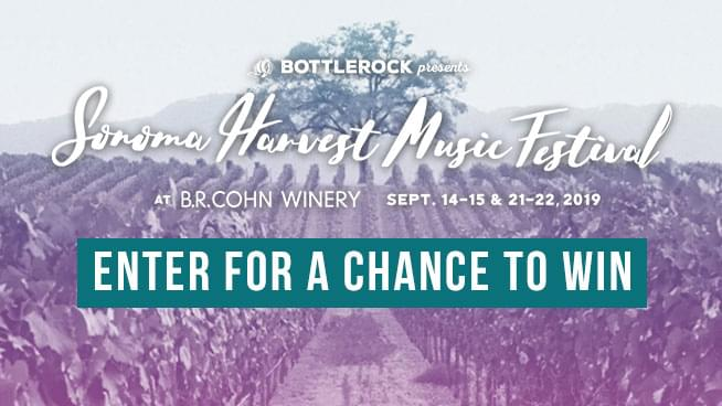 You Could Win Tickets To The Sonoma Harvest Music Festival!