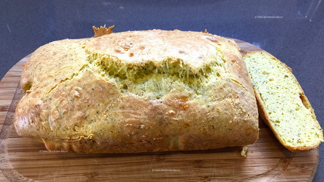 Ethan's Savory, Cheesy, Herb Bread