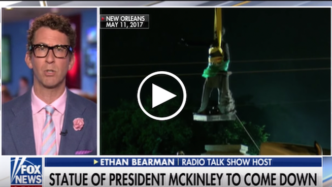 Ethan defends removing statues of President McKinley for injustices against Native Americans