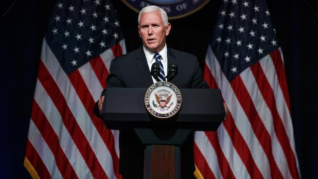 Pence announces Trump's 'Space Force' is coming as soon as 2020