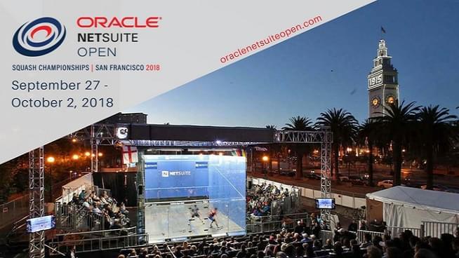 The Oracle NetSuite Open Squash Championships: September 29-October 2