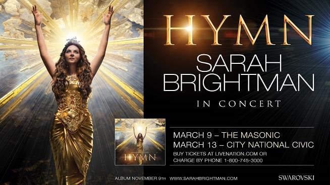 March 9: Hymn- Sarah Brightman In Concert