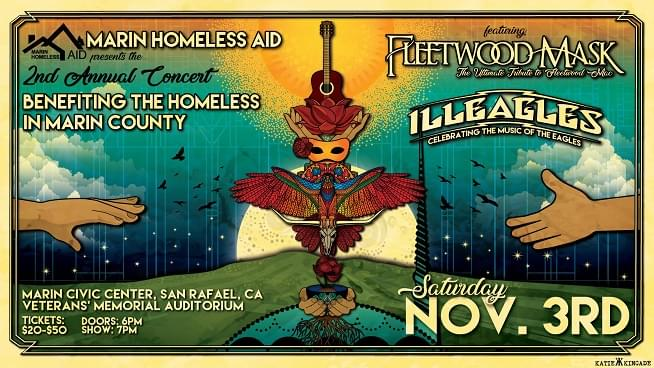 November 3: 2nd Annual Concert Benefiting The Homeless in Marin County
