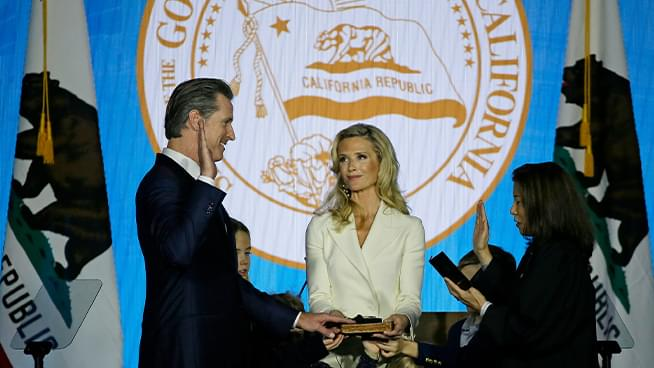 California Inauguration Day; Gavin Newsom becomes 40th Governor
