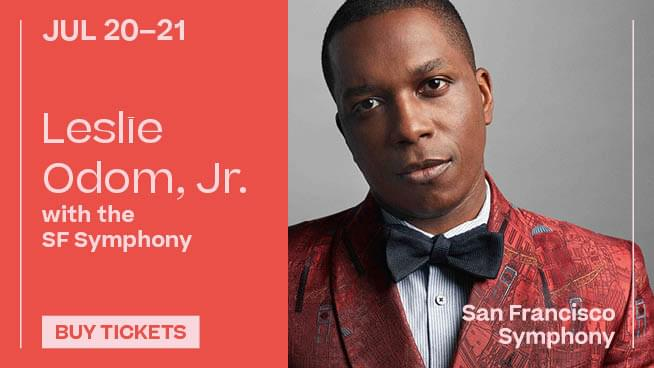 July 20- 21: Leslie Odom, Jr with the SF Symphony
