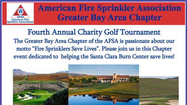 July 20: American Fire Sprinkler Association Charity Golf Tournament