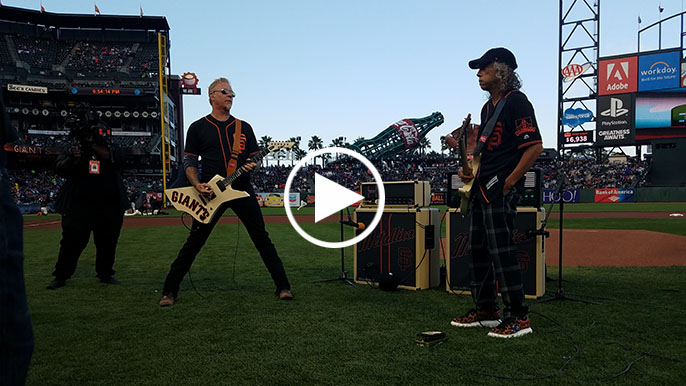 Metallica plays stylistic national anthem at Giants game