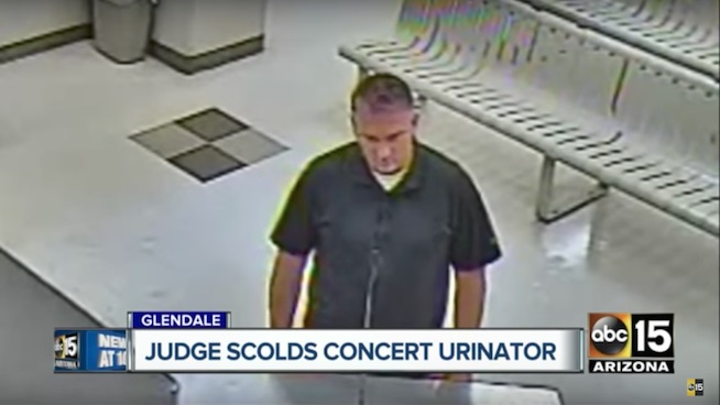 Man arrested for allegedly peeing on a family at Metallica concert