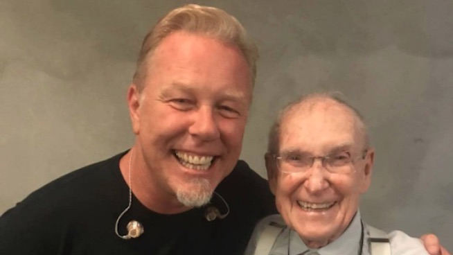 Cliff Burton's 92 year-old father still goes to Metallica shows