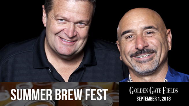 September 1: Golden Gate Fields 1st Annual Summer Brew Fest With Lamont & Tonelli