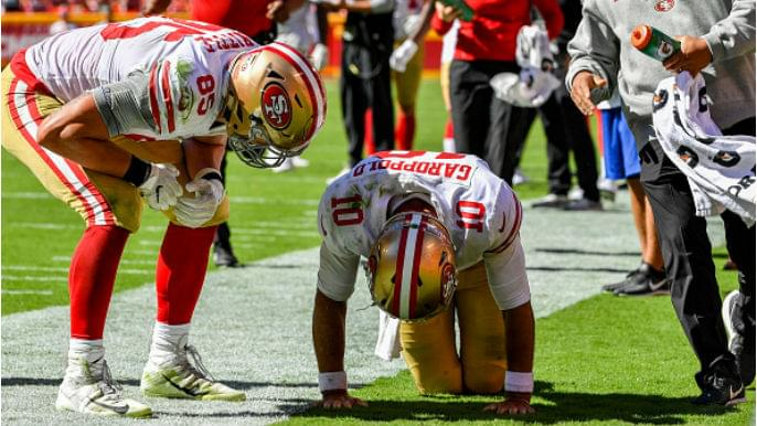 49ers locker room reacts to Jimmy Garoppolo's knee injury