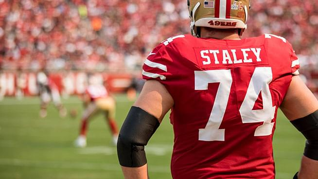 Joe Staley comments on how the NFL is nothing like what you see in the movie
