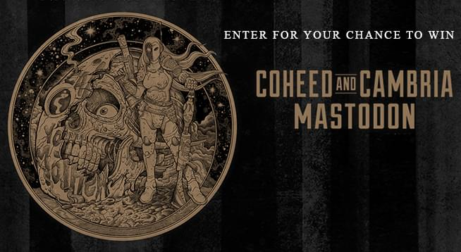 You Could Win Tickets To Coheed and Cambria & Mastodon!