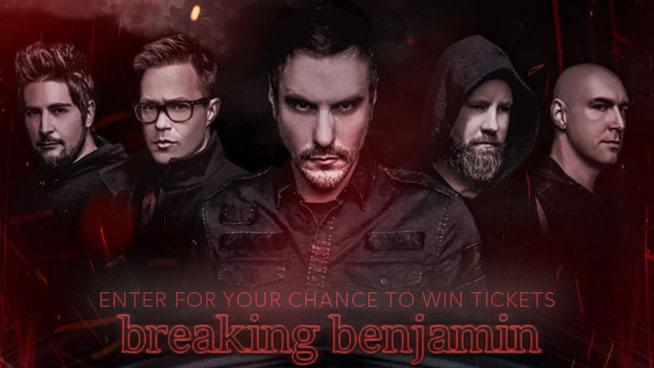 5bcfc778c6a Enter for a chance to win two (2) tickets to see Breaking Benjamin at  Concord Pavillion on September 18th! Furnished by Live Nation.