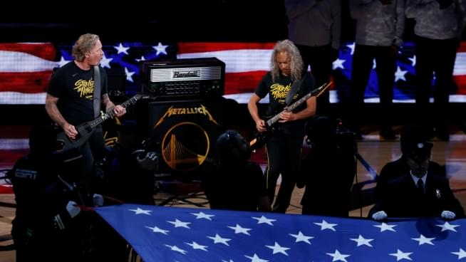 Watch Metallica Perform The National Anthem Before Game 3 Of The NBA Finals