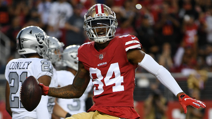 49ers Notebook: McKinnon gets back on field, Shanahan has surprisingly high praise for Bourne