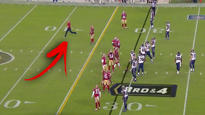 Kevin Harlan Does Amazing Play-By-Play of Moronic Fan on the Field