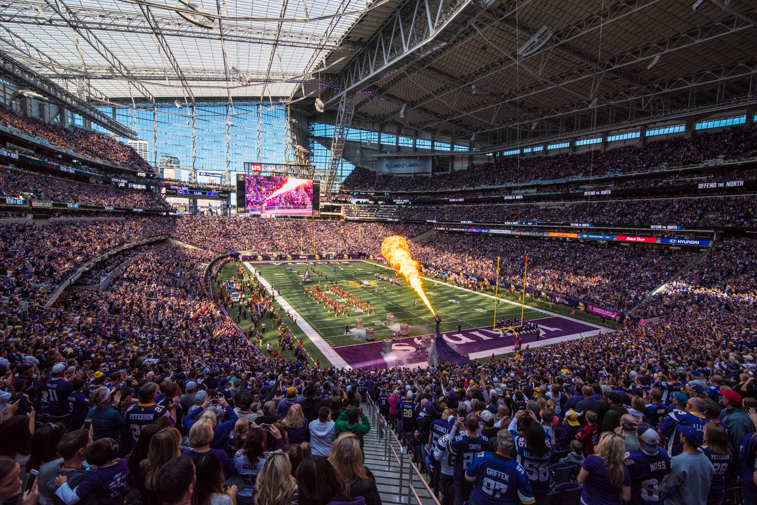 Exterior: EKSTROM: Protester Removed From Rafters At US Bank Stadium