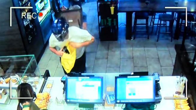 Dimwit Robber In Transformers Mask Is Thwarted With a Chair to His Back
