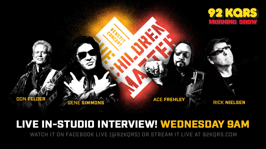 Gene Simmons, Ace Frehley, Don Felder & Rick Nielsen LIVE In-Studio Wednesday!