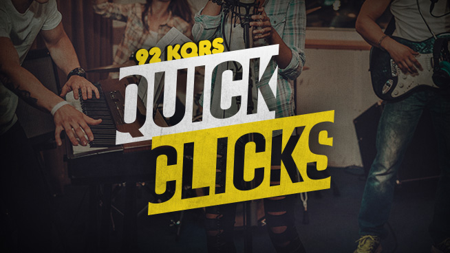 92 KQRS QUICK CLICKS Music News: 4/11/18