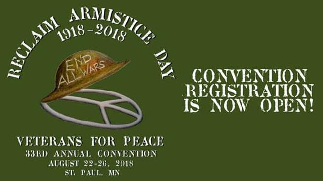 AUG 22-26 • Veterans for Peace Convention
