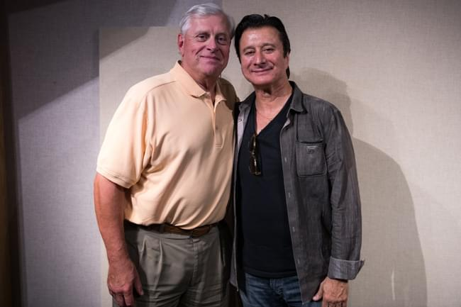 Tom Barnard and Steve Perry inside the KQRS studios Photo credit: RKH Images