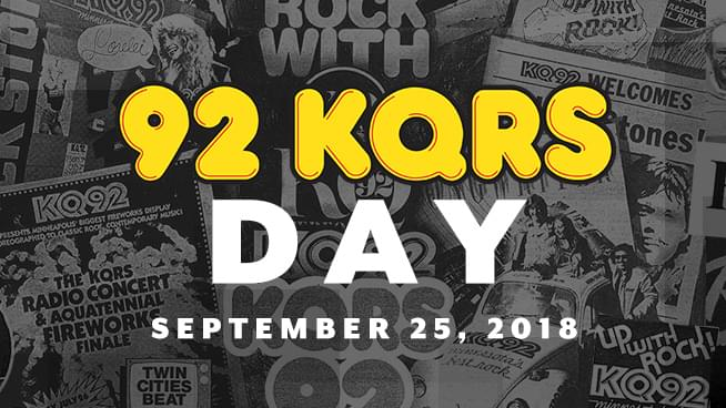 State of Minnesota and City of Golden Valley Recognize September 25, 2018 as 92 KQRS Day