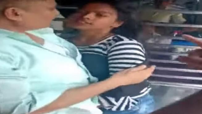 Girl Nearly Falls off Train in Mumbai, Pulled Back by Commuters