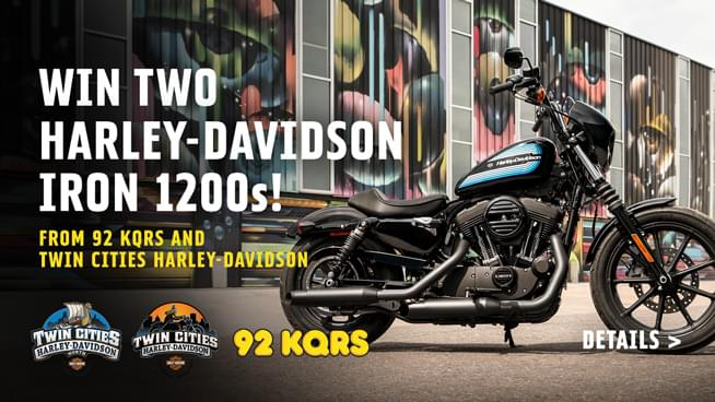 You Could Win TWO Harley-Davidson Iron 1200s!