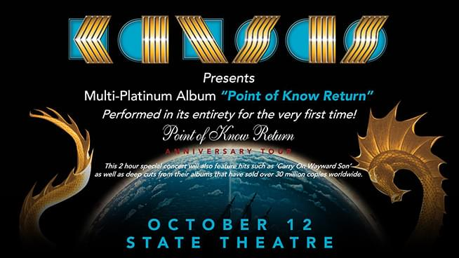 OCT 12 • Kansas: Point of Know Return Anniversary Tour