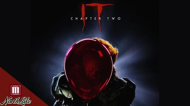 Win a Fourpack of Passes to  IT: Chapter Two at Marcus Theatres Oakdale!