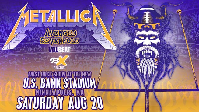 93X Presents Metallica with special guests Avenged Sevenfold and Volbeat