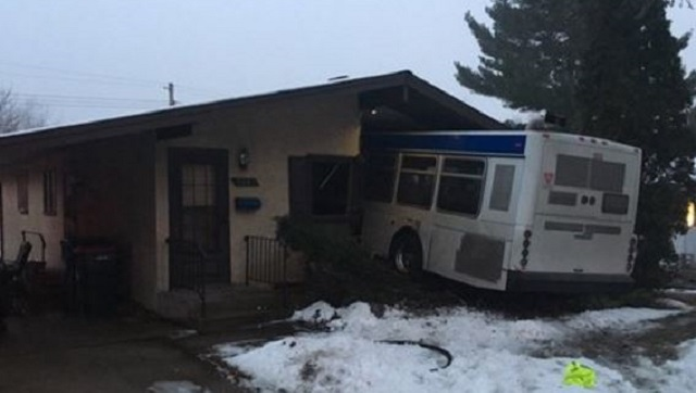 Metro Bus Drives Straight Into House