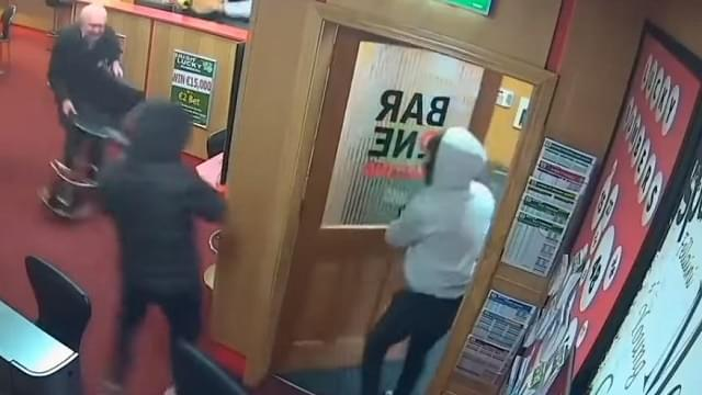 Old Man Kick's Robber's Ass