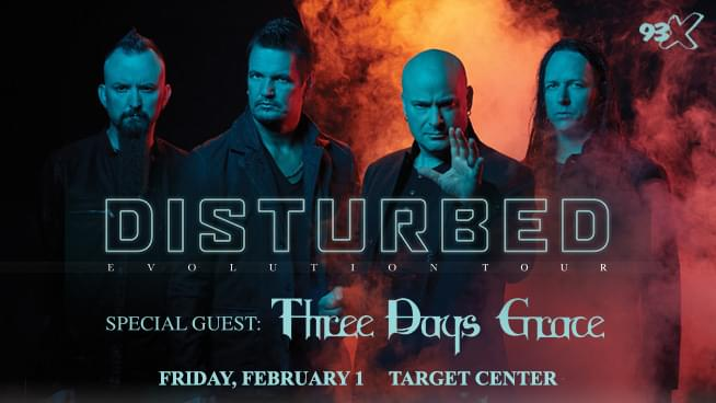 Win Tickets to Disturbed at Target Center!