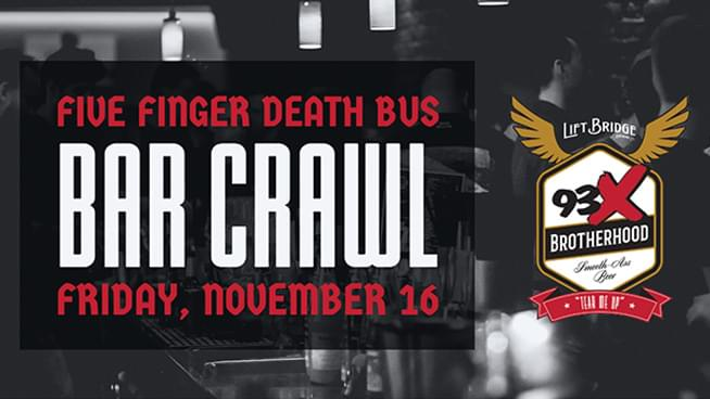 Five Finger Death Bus Bar Crawl
