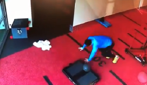 UFC Legend Has Mishap With Medicine Ball While Working Out