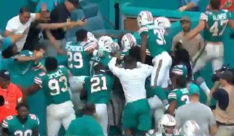 Dolphins Score 69-Yard Game Winning Touchdown