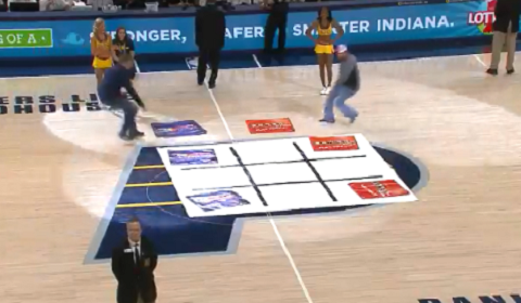 Pacers Fans Play The Most Frustrating Game Of Tic-Tac-Toe