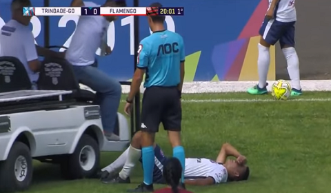 Injured Soccer Player Gets Foot Run Over