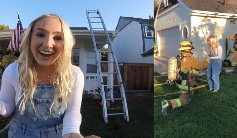 Firefighter Fakes Fire At His House To Propose