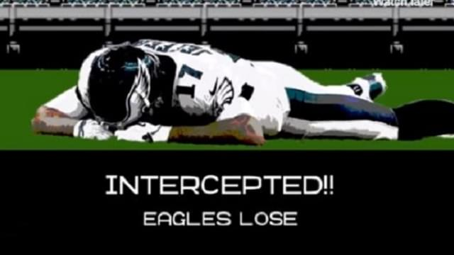 Eagles Game Ending INT: Tecmo-ized