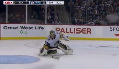 Marc-Andre Fleury Caught Build Wall In Front Of Net