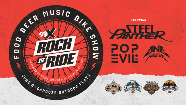 JUN 8 • 93X Rock N' Ride Fest starring Steel Panther and Pop Evil