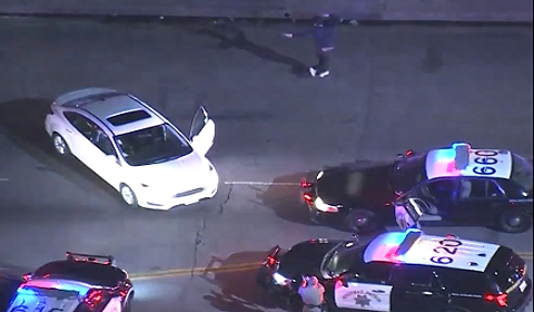 Police Chase Ends In Dance Off?